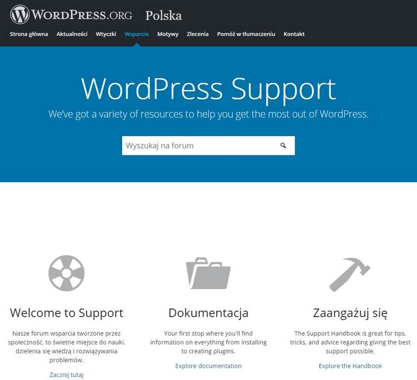 wsparcie tworzenia stron internetowych wordpress
