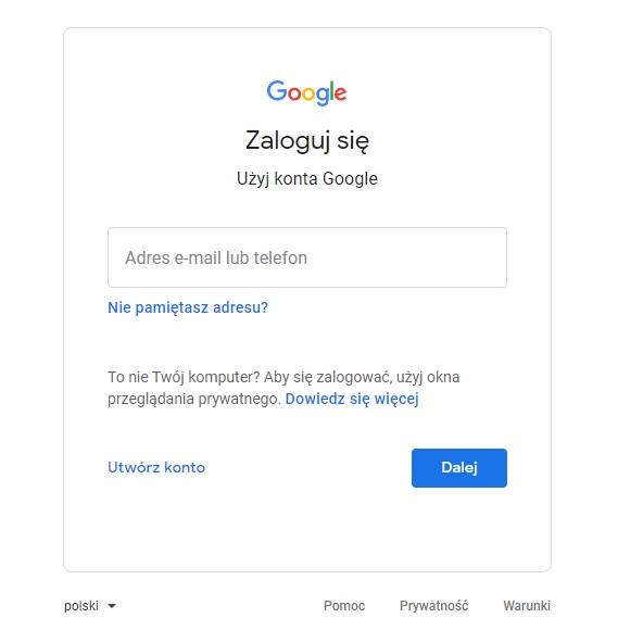 zakładanie konta google moja firma